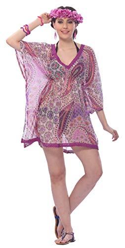 LA LEELA Bluzka hawajska   damska tunika   krótki rękaw   bluzka na imprezę plażową   lato na co dzień   duży rozmiar   luźna Aloha  XS - 3XL     z nadrukiem 332