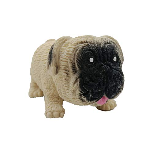 YUY Creative Pug Decompression Lalale Sand Elastic Stretch Deformation Vent Toy, Queezing Toys Hand Toys For Anxiety Calming Best Gifts