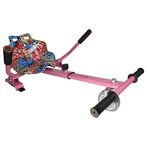 Hiboy 8435518003137, Silla Self Balancing Compatible con Todos los Patinetes Eléctricos de 6.5, 8 y 10 Pulgadas, Niños, Asiento Kart Rosa, Talla Única