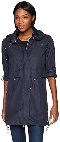 Coatology Women's Water Resistant Detachable Hooded Long Anorak