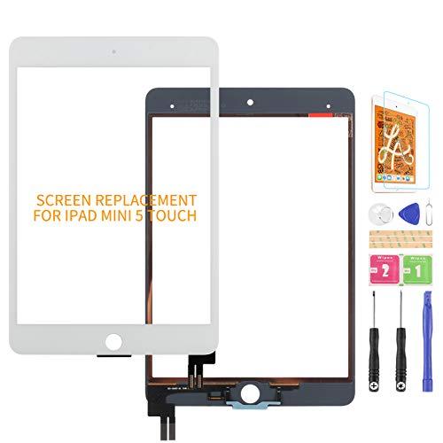 Ersatzbildschirm für iPad Mini 5 7.9 2019 A2126 A2124 A2133 Touchscreen Digitizer Glas Panel Matrix Reparaturteile Kit (Weiß Original)