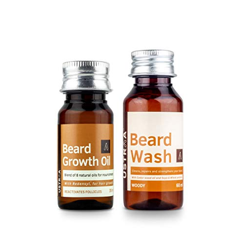 Ustraa Beard Growth Oil & Beard Wash Woody