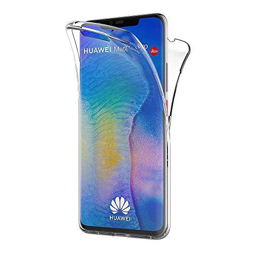 AICEK Cover Huawei Mate 20 PRO, 360°Full Body Cover Huawei Mate 20 PRO Silicone Case Molle di TPU Trasparente Sottile Custodia per Huawei Mate 20 PRO (6.39 Pollici)
