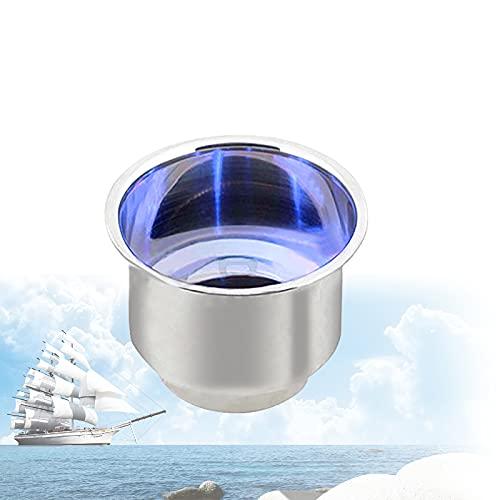 Boot Becherhalter Blaues Licht, Universal GeträNkehalter Aus 3 Led-Leuchten, Flaschenhalter Mit Einsatz Ablaufloch, Boot Yacht Auto Büro