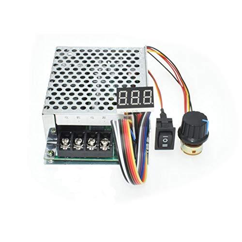 tatoko DC Motor Speed Controller 10V-55V 12V 24V 36V 40A Stepless DC Motor Speed Controller with Forward-Brake-Reverse Switch,Ajustable Potentiometer &Digital Display