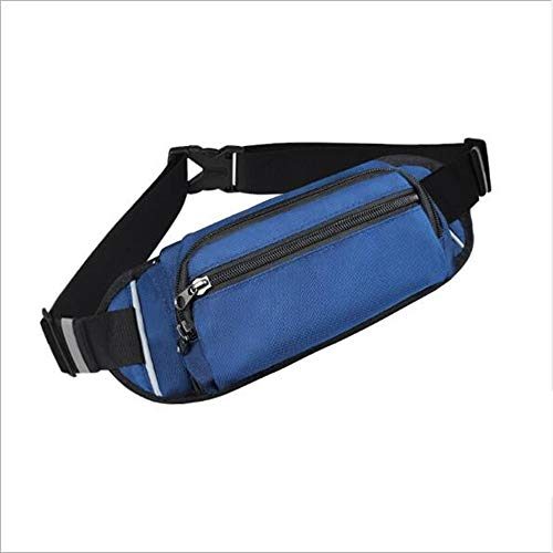 HDGAB Riñonera Deportiva, Cinturón Ajustable De Gran Capacidad, Resistente Al Sudor E Impermeable, Ligero Y Duradero, Utilizado for Correr, Viajar, Practicar Deportes Al Aire Libre (Color : Blue)