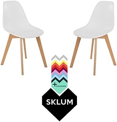 SKLUM Pack 2 Sillas IMS Nordic Blanco - (Elige Color)