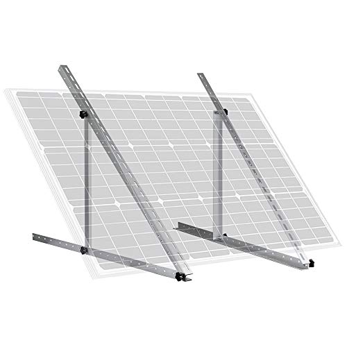 ECO-WORTHY 41' Adjustable Angle Solar Panel Tilt Mounting Brackets for Boat, RV, Roof Off Grid System(41-inch Length)