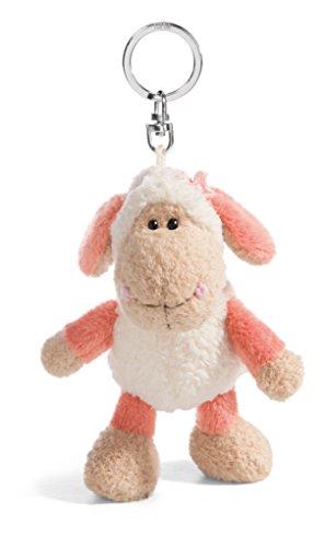 NICI Llavero Jolly Mellow 42180 de Mäh con forma de oveja, color blanco/rosa, 10 cm