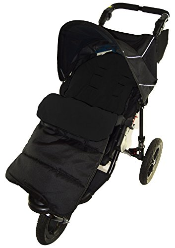 Saco/Cosy Toes Compatible con Out N About Nipper único 360paseo negro Jack