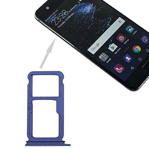 ZHANGLI - Bandeja para tarjetas SIM para Huawei P10 Plus y bandeja para tarjetas SIM/Micro SD (negro) (color: azul)