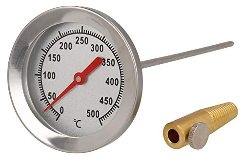 Lantelme Grill Thermometer 500 Grad 50cm Sonde Backofenthermometer Edelstahl Backofen Pizzaofen Tandur Mangal 4014
