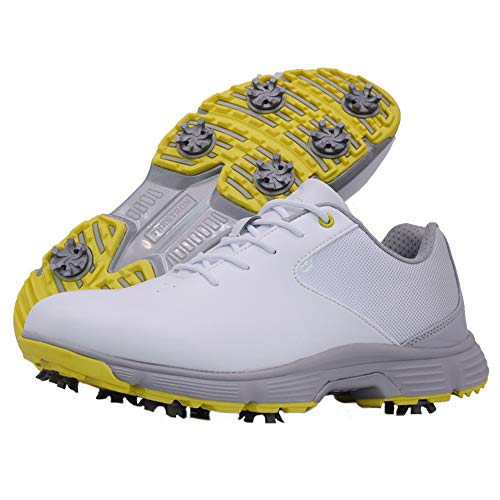 Thestron Men Golf Shoes Professional Waterproof Spikes Golf...