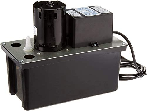 Little Giant 553201 Automatic Condensate Removal Pump with Safety Switch, 1/18 HP, 115V, 2 , Black