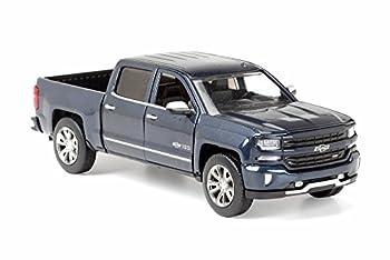 Motor Max 2018 Chevy Silverado Pick-Up Truck  Centennial Edition  Steel Blue 79353BU - 1/27 Scale Diecast Model Toy Car