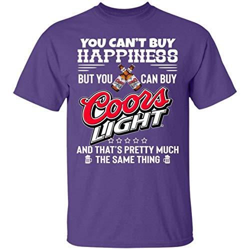 Camiseta de Manga Corta de Moda Masculina No Puedes Comprar Felicidad Pero Puedes Comprar Camisetas Ligeras de Coors Camiseta de Algod¨®n Gen¨¦Rica P¨²rpura XXL