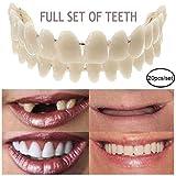 ホワイトニング歯スナップキャップ インスタントスマイルベニア スナップアップとダウン プロの歯科サポート インスタントパーフェクトスマイルと快適なフィットの弾性歯ベニア(上下) 20個,M