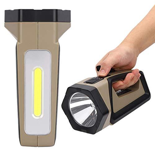 FECAMOS Antorcha de minería de Mano Linterna de Foco portátil Linterna portátil Recargable XHP50 + COB P50 Linterna de luz de Trabajo Fuerte con luz roja