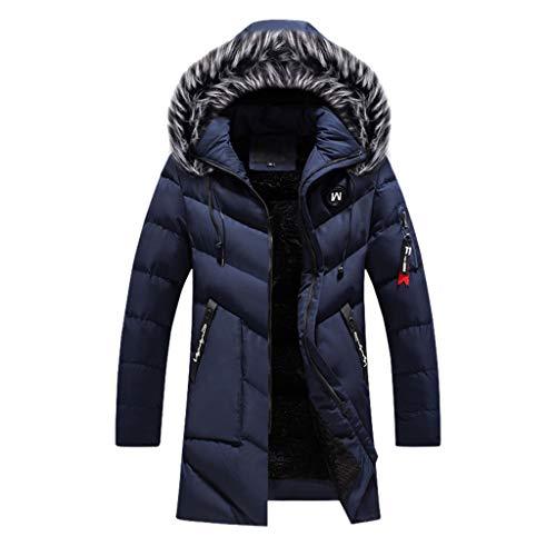 Plot Herren Steppjacke mit Kapuze Winter Warm Windbreaker Softshell Jacken mit Pelzkapuze Winterjacke Einfarbig Outdoor Funktionsjacke Sportjacke