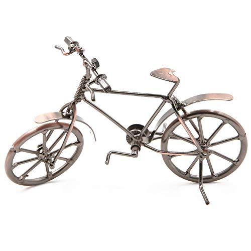 Dawa Vintage Metal Bicicleta Adornos De Escritorio Manualidades De Hierro Bicicleta Figurinas Bicicleta Miniatura Decoración Del Hogar Para Niños Juguetes Regalos (Cobre Rojo)
