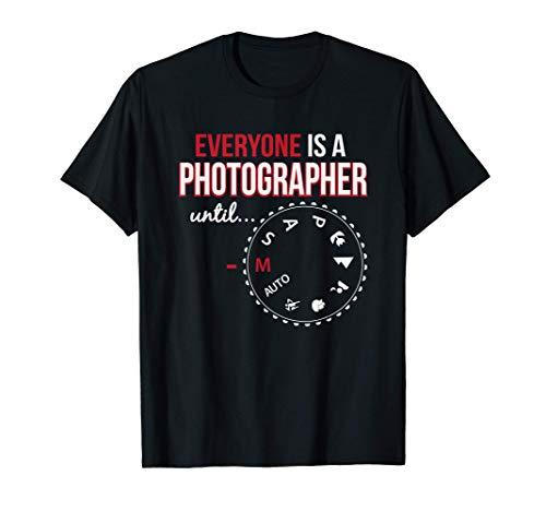 Todo el mundo es un regalo manual de fotografía de cámara de Camiseta