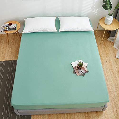 HAIBA Juego de cama doble con bolsillo extra profundo y protector de colchón de polialgodón para cama doble, 150 x 200 x 25 cm