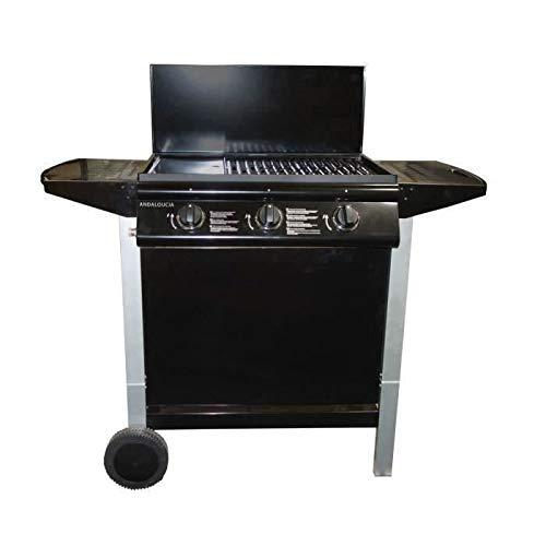 ANDALOUCIA Barbecue gaz 3 brûleurs sur chariot