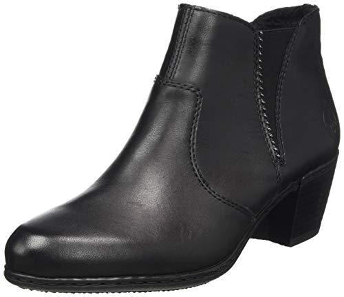 Rieker Damen Y2170 Stiefeletten, Schwarz (schwarz/schwarz 01), 40 EU
