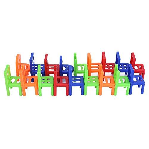 Giocattoli bilancianti per bambini, sedie in plastica, gioco da tavolo impilabile, 18 pezzi, multiplayer per intelligenza, per bambini, ragazzo, ragazza, adulti