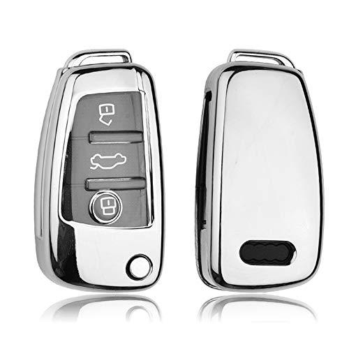 Funda protectora para llave de Audi, carcasa especial de TPU suave compatible...
