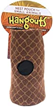 Tree Trunk Pouch - Hanging Fleece Cage Accessory Toy for Sugar Gliders, Marmosets, Rats, Hamsters, Flying Squirrels, Ferrets, Birds, Chinchillas, Parrots - Hammock, Tower, Bed, Nest Pouch