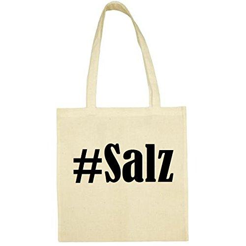 Tasche #Salz Größe 38x42 Farbe Natur Druck Schwarz