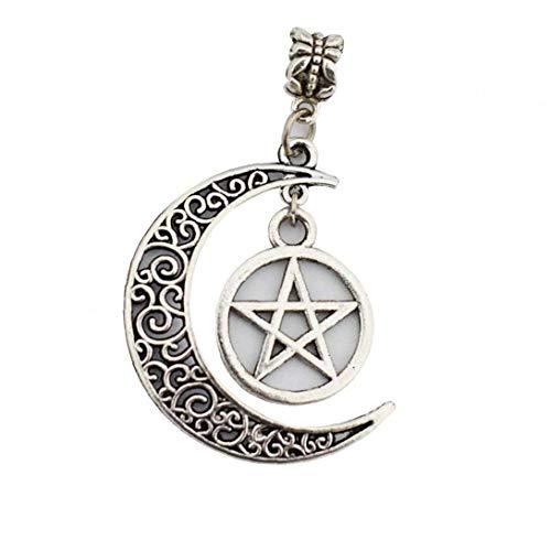 NaisiCore Joyería de Lujo Luna Creciente Pendiente Elegante Pentagram Sun Collar Retro de la aleación del Estilo del Cuello por un Suministro de joyería de Mujeres y niñas