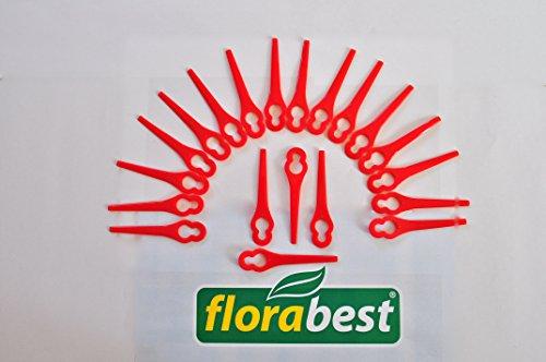 Florabest - 20hojas de repuesto de plástico de calidad para cortacésped eléctrico FRT 18A y FRT 18A1