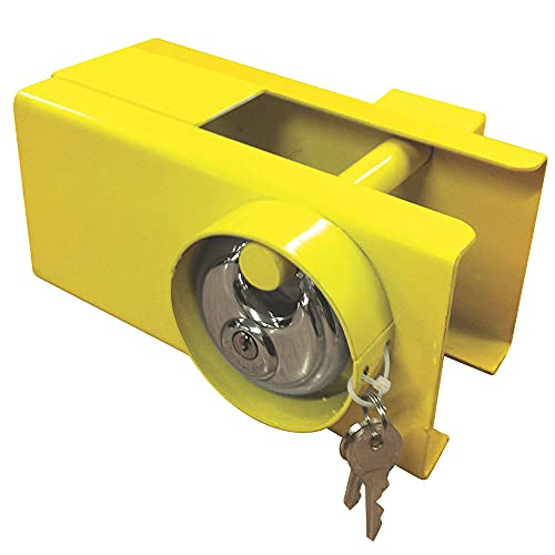 MSA Heavy Duty Tow Hitch Lock & Keys for Towing Caravan Trailer Security Trailer Lock