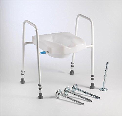 Drive Medical Stamford Scandia toiletbril en -frame met bevestigingsset voor de vloer