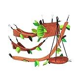Balacoo 5 Stücke Hamster Hängematte Meerschweinchen Schaukel Spielzeug Set Plüsch Kleintier Hängebett für Vogel Eichhörnchen Kaninchen Eichhörnchen Ratte Chinchilla Mäuse