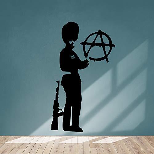 Adesivo da parete in vinile raffigurante i famosi graffiti di Banksy, ideale per camera da letto,...