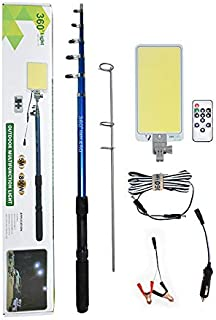 Conpex Outdoor Telescopic Camping Rod Floodlight 45W 4560LM, New Technologic COB Lamp with Fishing Rod Perfect for Camping...