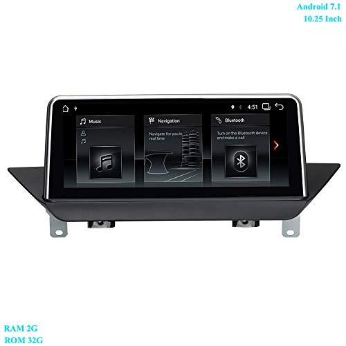 XISEDO Android 7.1 Autoradio 10.25 Pouces Écran 4-Core RAM 2GB ROM 32GB Car Radio Système de Navigation GPS pour BMW X1 E84(2009-2015) sans Écran d'origine/Fournir avec iDrive