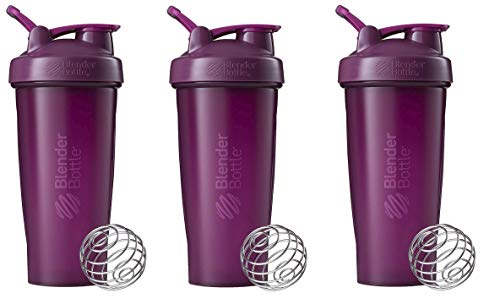 BlenderBottle Classic Loop Top Shaker Bottle 3-Pack, 28 oz (Plum)