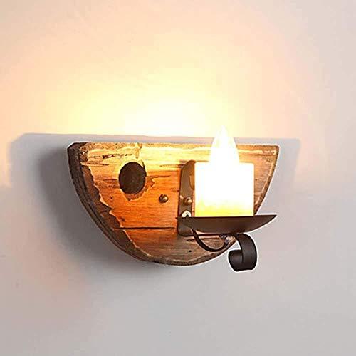 YONGYONGCHONG Zaklamp Wandlamp Helder Zwart Smeedijzeren Kaars Metalen Wandlamp En Wandlamp Hout/Bamboe Wandlamp 40 W E12 / E14 Binnenplaats licht