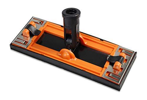 Vetrineinrete Supporto per carta vetrata con attacco girevole per palo di estensione 225x85 mm smerigliatrice manuale levigatrice smerigliatore a mano con base in spugna e morsetti M3