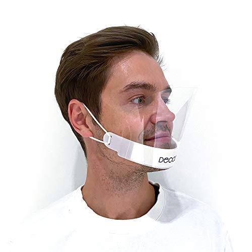 Mundschutz Plastik DECADE® [10x] Plastik Maske - Gesichtsschutz Visier - Maske Schutzmaske PVC Mund und Nasenschutz Gesichtsvisier - Face Shield Maske Plastik - Mundschutz Visier