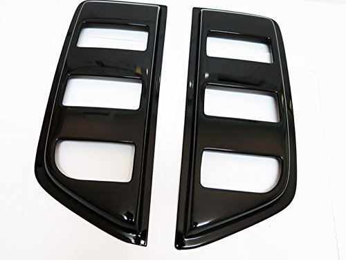 Replacement for Nissan Frontier D40 Extended Cab 2pcs Tape-On Window Visor Deflector Rain Guard
