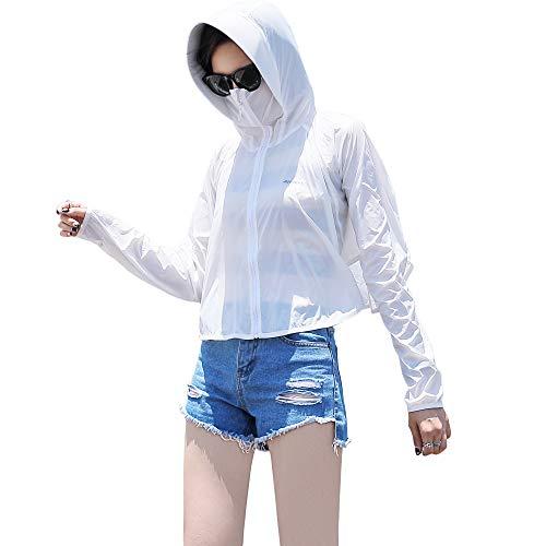 Sidiou Group UPF50+ YKK cremallera anti-UV sudadera con capucha protección solar ropa de secado rápido chaqueta piel abrigo casual correr ciclismo pesca ligero cortavientos