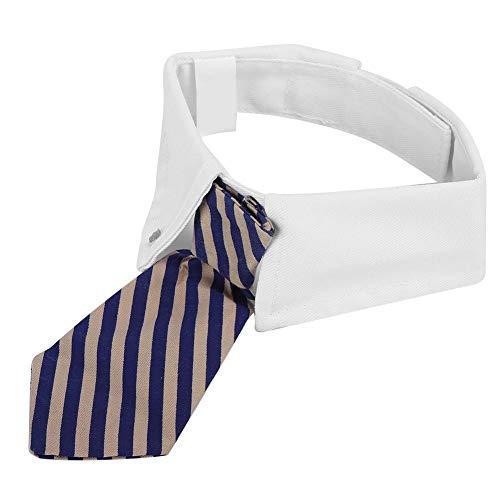 DAUERHAFT Blaues modisches Haustierzubehör Cat Striped Bow Tie Cloth zum Tragen auf der Party 11.8-14.1 in(Blue, Number 8)
