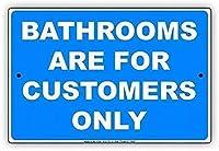 金属サインのバスルームは、壁の装飾のための顧客のみのサインのアルミニウムティンサインです。