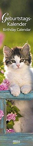 Geburtstags-LP Cats i.w.: Immerwährender Wandkalender. Format 11 x 48 cm.