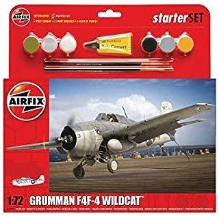 Airfix A55214 Grumman F4F-4 Wildcat Plastic Model Medium Starter Gift Set (1:72 Scale) by Airfix